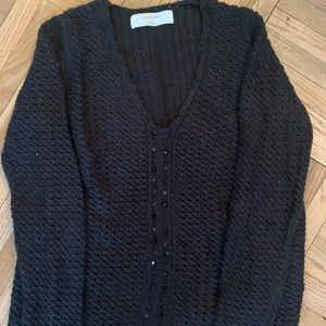 Black knit Zara sweater